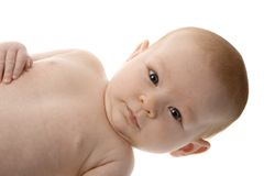 Newborn with funny look royalty free stock images