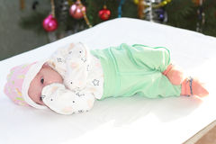 Newborn girl. Who was just a few days Royalty Free Stock Images