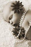 Newborn girl Stock Photos