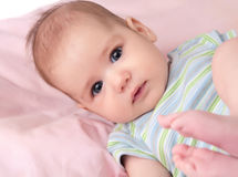 Newborn girl Stock Images