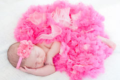 Newborn Girl Stock Image
