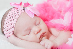 Newborn girl Stock Image