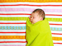 The newborn girl age 10 days Royalty Free Stock Photo