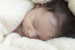 Newborn Baby Girl Royalty Free Stock Photo