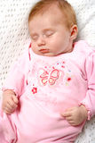 Newborn girl sleeping royalty free stock photo