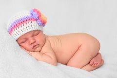 Newborn girl royalty free stock images