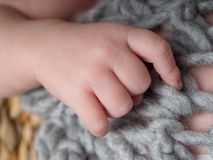 Newborn hand and fingers Stock Photography