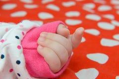 Newborn hand Stock Photo
