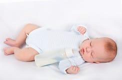 The newborn has fallen asleep Stock Image