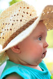 Newborn in Hat Royalty Free Stock Images