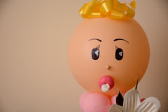 Newborn head balloon Royalty Free Stock Photography