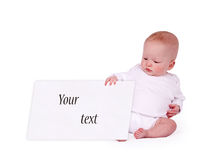 Newborn holding empty Stock Photos