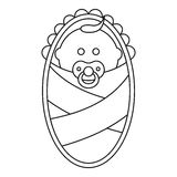 Newborn icon in outline style Royalty Free Stock Image