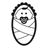 Newborn icon in simple style Stock Photos