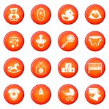 Newborn icons vector set Stock Photos