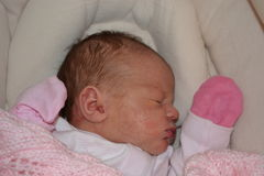 Newborn infant Stock Photo