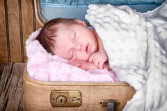 Newborn infant baby sleeping Stock Image