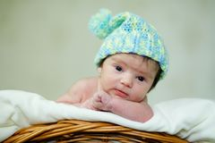 A newborn infant royalty free stock photography