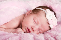 Newborn infant sleeping Stock Image