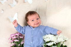 The newborn kid Royalty Free Stock Images