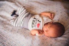 Newborn little baby sleeping Royalty Free Stock Images