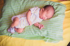 Newborn little baby sleeping Stock Photo