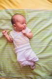 Newborn little baby sleeping Stock Image