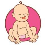 Newborn little baby smiling Stock Photo