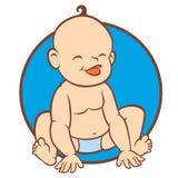 Newborn little baby smiling Stock Image