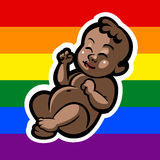 Newborn little gay baby smiling Royalty Free Stock Photo