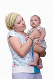 Newborn with mother Royalty Free Stock Photo