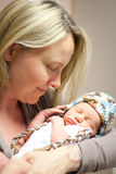 Newborn and Mother Stock Photography