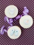 Newborn muffin celebration Stock Photo