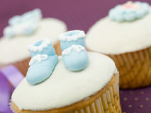 Newborn muffin celebration Stock Photo