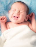 Newborn Nathan. Little sweet newborn boy sleep Royalty Free Stock Photos
