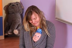 Newborn in nursery Royalty Free Stock Photos