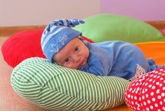 Newborn in nursery Stock Photos