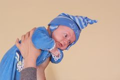 Newborn in nursery Royalty Free Stock Images