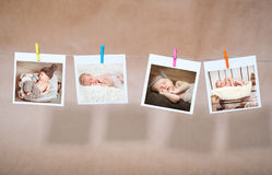 Newborn photos Royalty Free Stock Image