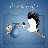Newborn postcard for boy Stock Image