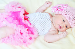 Newborn princess Stock Photos