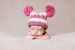 Newborn relaxing Stock Images