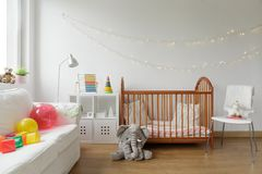 Newborn room interior Royalty Free Stock Photo