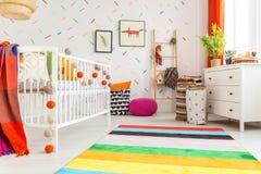 Newborn room in scandi style Stock Photos