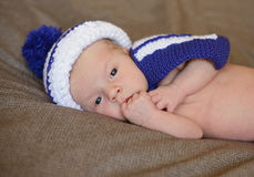 Newborn sailor Royalty Free Stock Image