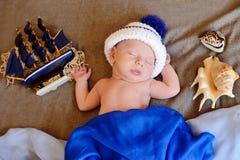 Newborn sailor Stock Images