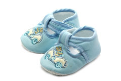 Newborn shoes Stock Photography