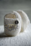 Newborn shoes Stock Images