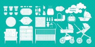 Newborn shopping boy 1 Stock Images