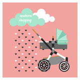 Newborn shopping card 1 Stock Image